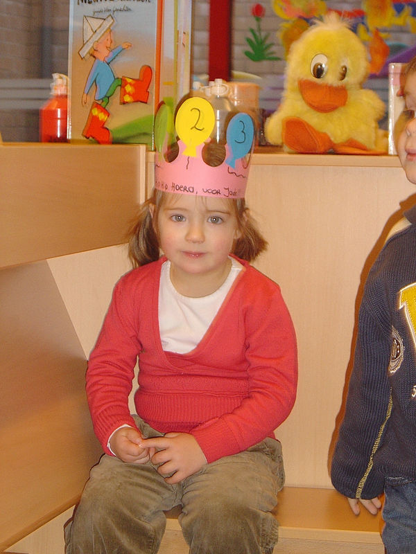 Bij juffrouw Greet mochten ze zelfs mee de verjaardag van Jade vieren.