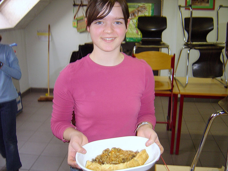 Isabelle verraste ons met een quiche uit Frankrijk.