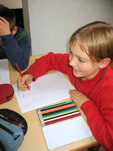 De leerlingen konden hetgeen ze geleerd hadden omzetten in de praktijk. Ze ontwierpen hun eigen strip.
