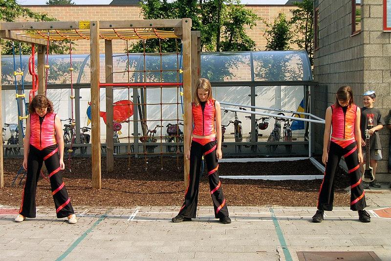 6de leerjaar: danstrio( Celina, Charisse en Hanne)