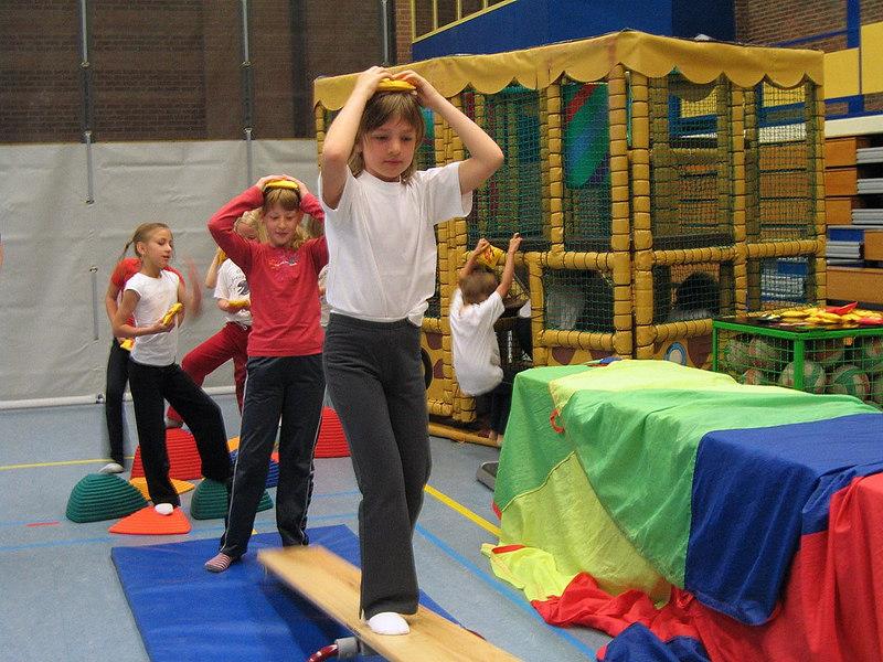 De sportdag was verdeeld in 2 delen.<br /> De leerlingen van het eerste, tweede en derde leerjaar gingen eerst naar de sporthal.
