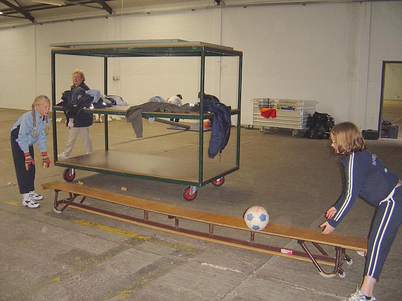 In Teunenberg konden de kinderen kennis maken met enkele balspelen.
