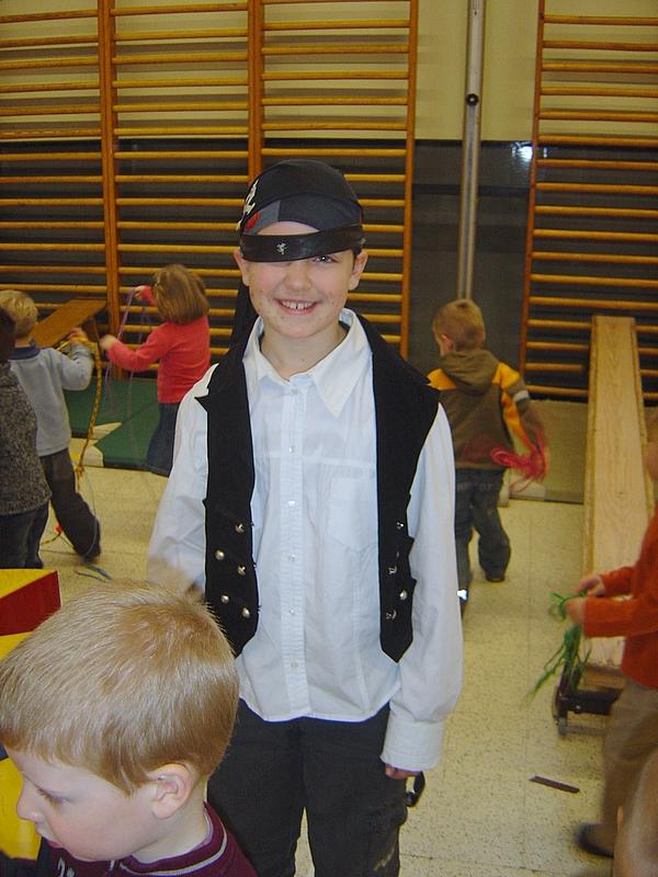 Piraat Maurane was helemaal klaar om op zoek te gaan naar de schat.