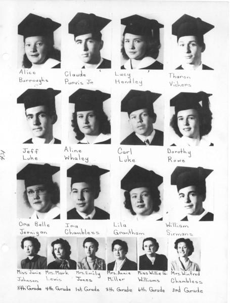 1948-1949 Alapaha Senior Class and Faculty