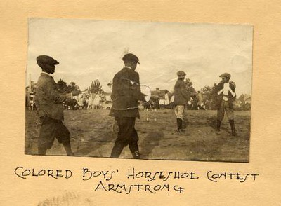 Colored Boy's Horseshoe Contest at Armstrong (01587)
