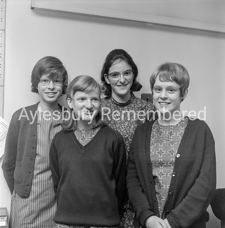 BBC's Top of the Form at Aylesbury High School, Sep 1969