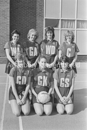 High School Netball Team, Mar 1987