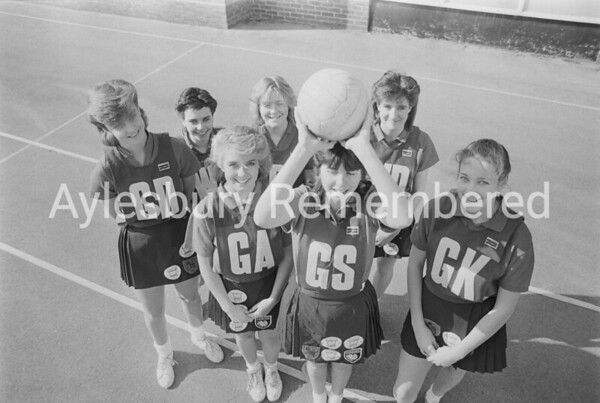 High School Netball Team, Mar 1987
