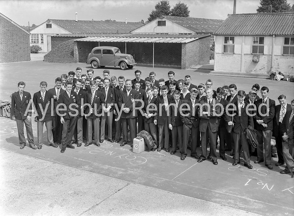 Aylesbury Technical School boys off to Basel, July 25th 1958