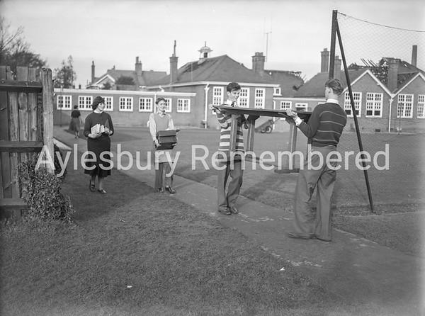 Grammar School fire salvage, Nov 30th 1953