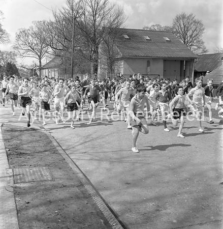 Aylesbury Grammar School cross country run, April 9th 1962