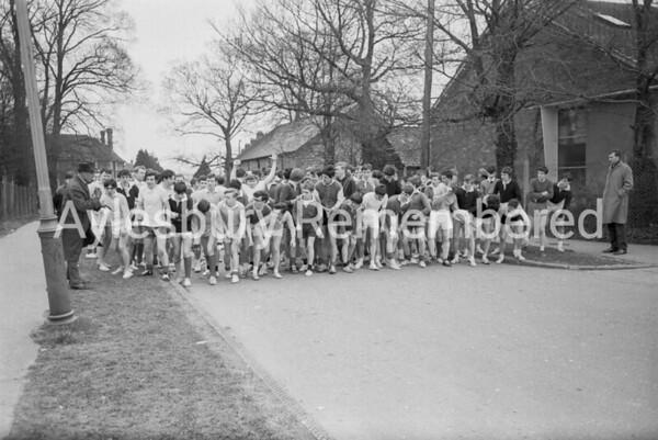 Grammar School cross country run, c1966