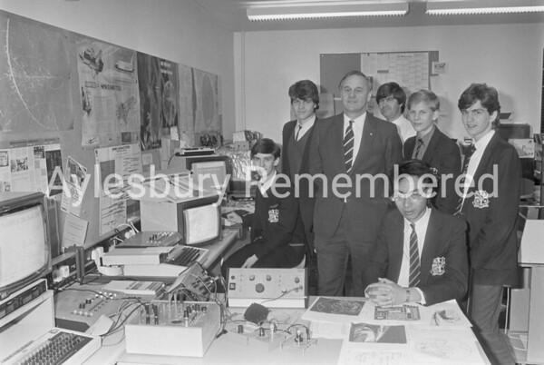 Grammar School computer block, Oct 1986