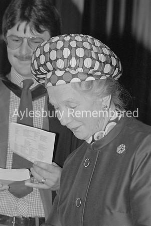 Aylesbury Grammar School prize giving with Dame Kathleen Raven, Oct 1981
