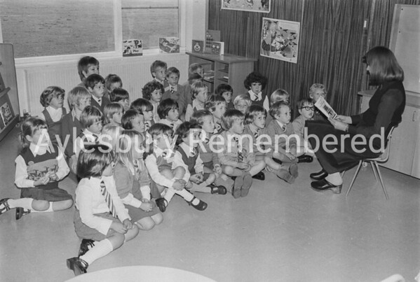 First day at Bedgrove County Infant School, Sep 1978