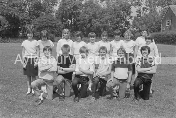 Bedgrove Junior School swim squad, July 1985