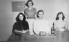 BHS 1954-55 Senior Class Officers, Norma Jean Shannon, reporter, Sue Nix, treasurer, Jane Roberts, vice-president (not shown), Joann Register, secretary, Russell Egleston, president.