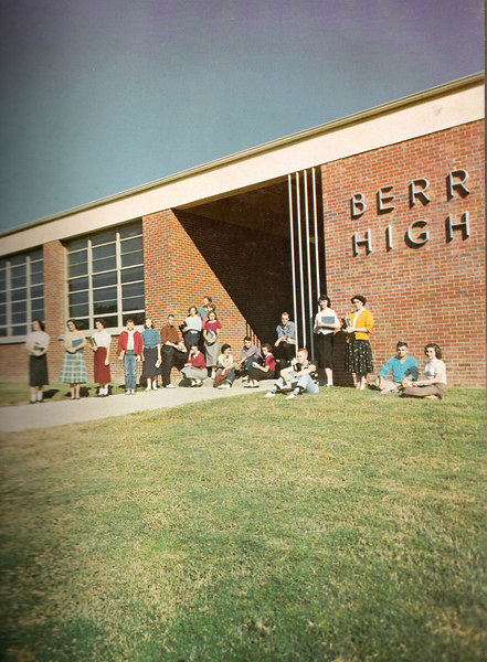 006_View in front of Berrien High School_1956-1957
