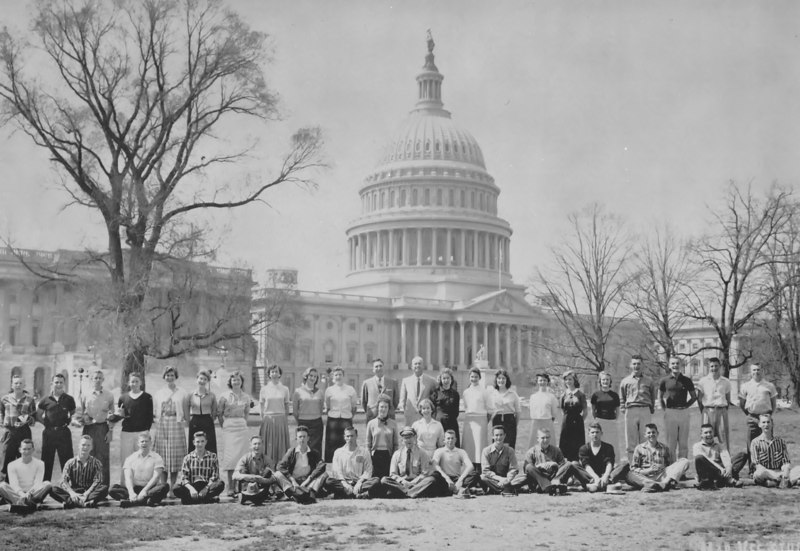 Berrien High School, 1957-58 Senior Class trip to Washington D.C.