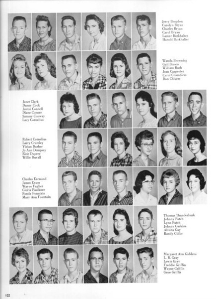 BHS 1961 Sophomores, page 2.