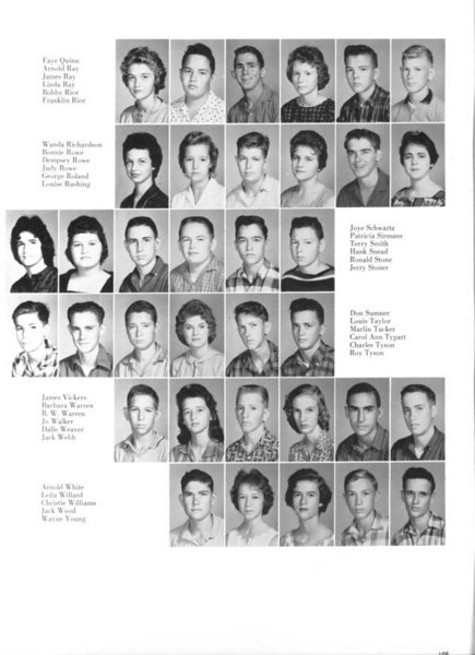 BHS 1961 Sophomores page 5.