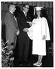 Berrien High Graduation, 1967, Principal Brock, Donald N. Roberson of the High School Board gives diploma to his daughter, Linda Roberson.