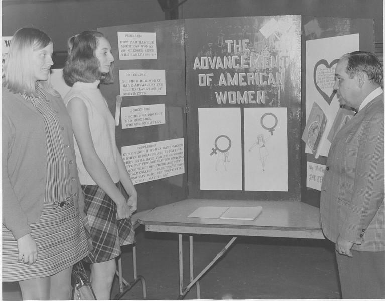 1971 Social Studies Fair at NES - Smith, Roberts, and McMillan