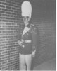 1955-56 Drum Major Jimmy Johnson (from yearbook)