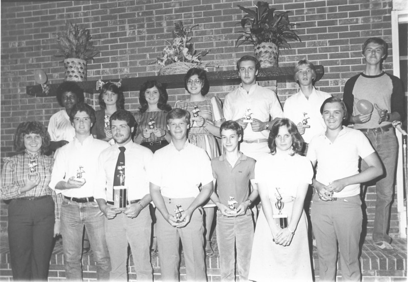 1983 May - BHS Band Banquet - Section Leaders
