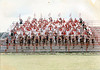 "1998-99 BHS Rebel Regiment<br /> <br /> from the BHS ""Rebel"" yearbook:<br /> The 1998-99 school year proved to be successful for the Rebel Regiment.  Rae Dennison returned for a second year as band director and Kelly Youngblood joined him this year as auxiliaries director.  The band, drum major, and auxiliaries all earned superior ratings at the Hawkinsville Marching Band Festival and the Peanut Invitational Marching Festival.  Between competitions, the Rebel Regiment wowed the crowds with unending enthusiasm and pep at football games, pep rallies, and numerous parades.  This year, the Band Boosters purchased new band uniforms for teh band members and the auxiliaries cahnged their look too!"
