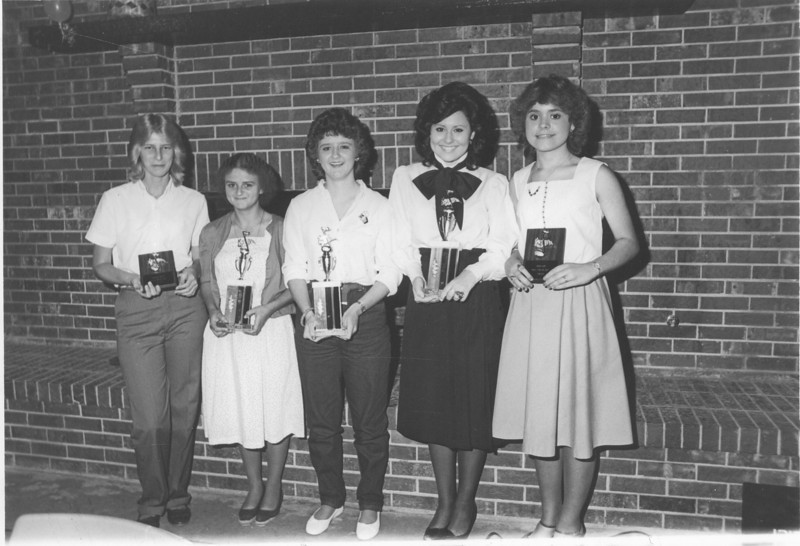 1983 May - BHS Band Banquet -Auxiliary Captains