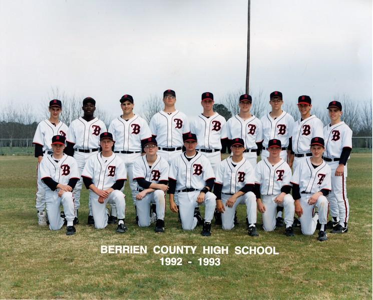 1993 BHS Baseball Team