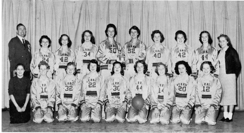 1957-58 BHS Girls Basketball Team <br /> (scanned from yearbook - original photo needed)