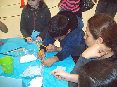 Binion Elementary's Winter Numberland Family Math Night