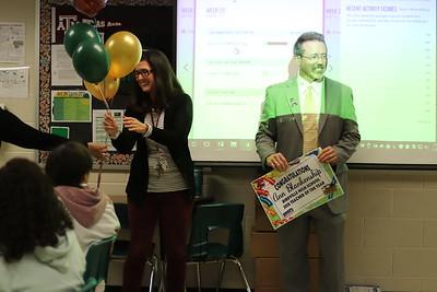 Superintendent Surprises Birdville High Teacher of the Year