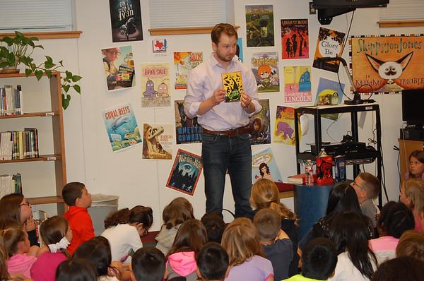 05-08-2014 Author Adam Gidwitz speaks to Blackland Prairie students