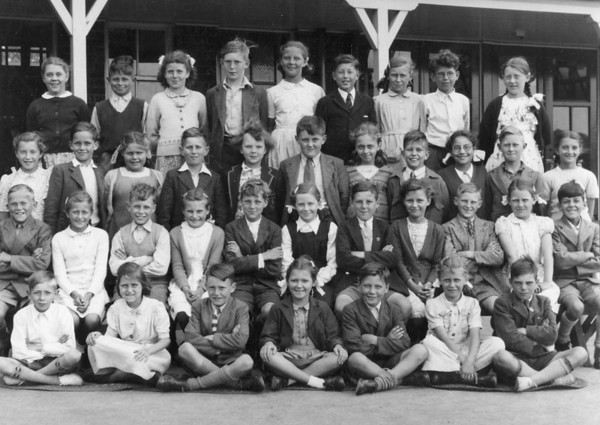 Michael and Judith Spencer at Bottesford Primary School in 1950