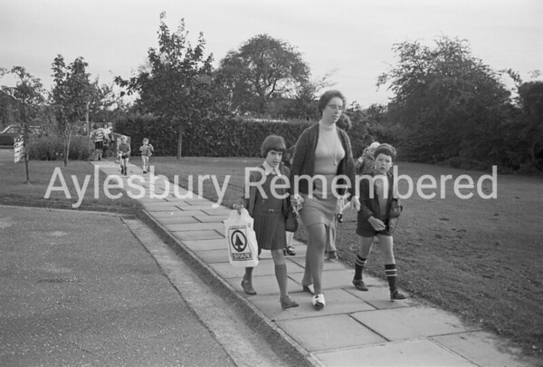 Back to school at Broughton County Primary School, Sep 1977