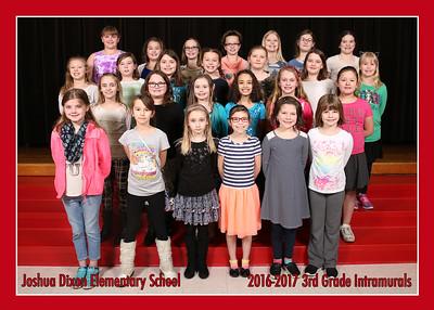 Grils 3rd Grade Intramurals 2016-2017