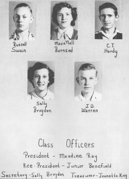 Poplar Springs 1953 Freshman Class (continued) from 1953 yearbook.