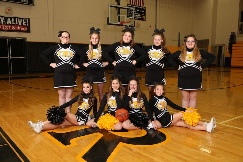 CMS 7th Grade Basketball Cheer 2015-2016