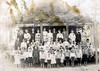 White Pond School about 1909. Identified students: Charlie Ruth Griffin, third row 4th from the right. Ona Belle Morris third row 8th from the right. Frank Griffin, top row 5th from the left. Bob Griffin, top row 6th from the right. Photo courtesy of Bryan Shaw
