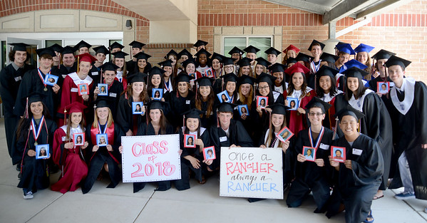 Class of 2018 seniors make a trip back to Rutledge Elementary School to be celebrated at their elementary school a final time before graduation. Many of these seniors were in the school's first kindergarten class when Rutledge opened in the 2005-06 school year.
