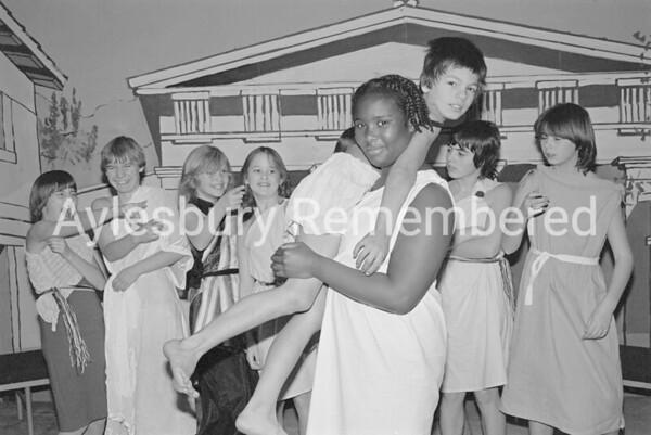 Lysistrata play at Elmhurst Junior School, Dec 1981