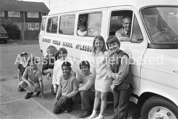 Elmhurst County Junior School minibus, July 1982