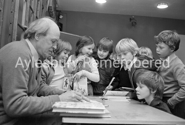 Roald Dahl at Elmhurst County Junior School, Jan 1980