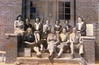Enigma School Faculty, unknown year. Original photo and identifications needed.<br /> Photo scanned from photo of laminated image on display board in Enigma City Hall.<br /> Courtesy of Jo Annn Hammond Crews