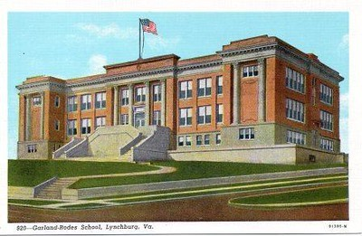 Postcard Garland Rodes School (05023)