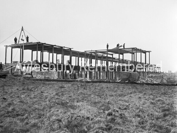 Construction of Grange County Secondary School, Jan 22nd 1952