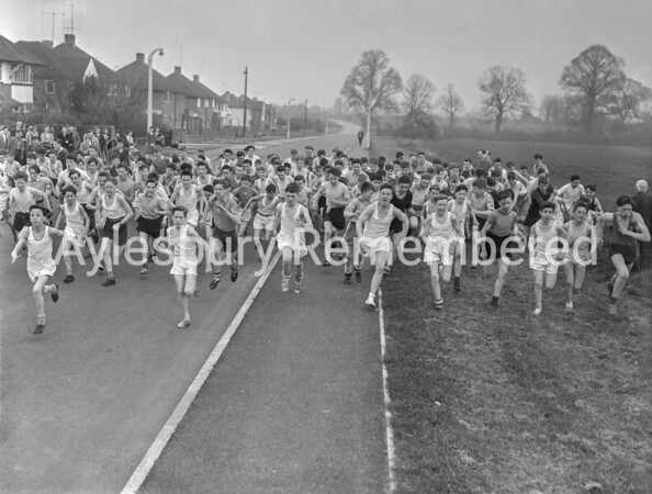 Grange CS School cross country run, Apr 5th 1957